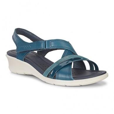Sandalo da donna a fasce incrociate ECCO modello FELICIA art. 21651350914 in vendita su Naturalshoes.it