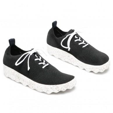 ASPORTUGUESAS Frauen und manner sneaker aus elastischem Gewebe CODE Modell in vendita su Naturalshoes.it