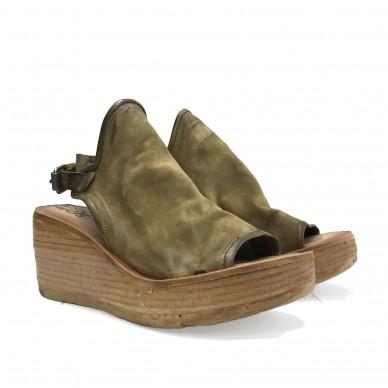 528055 - Sandalo da donna A.S.98 con zeppa e cinturino posteriore shopping online Naturalshoes.it