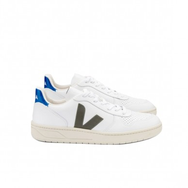 VX022283 - VEJA V-10 white-khaki-indigo in vendita su Naturalshoes.it