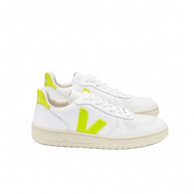 VX022086 - VEJA V-10 white-jaune-fluo in vendita su Naturalshoes.it