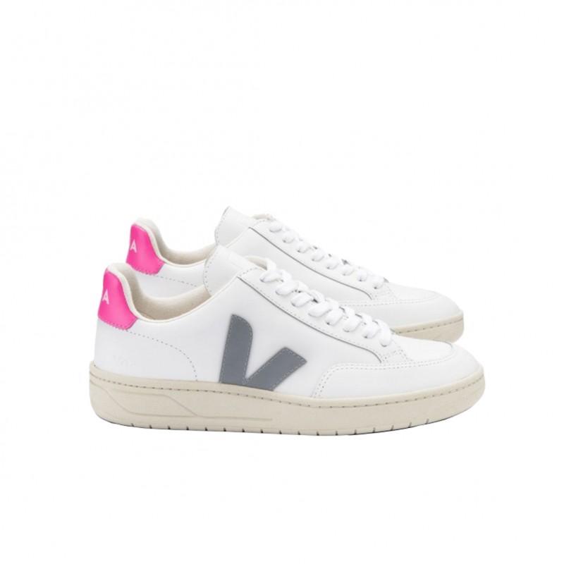 XD022289 - VEJA V-12 white-oxford-grey in vendita su Naturalshoes.it