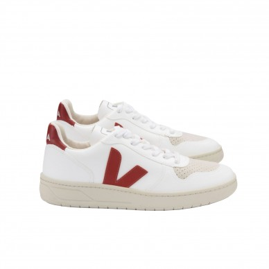 VX072352 - VEJA V-10  white-rouille in vendita su Naturalshoes.it