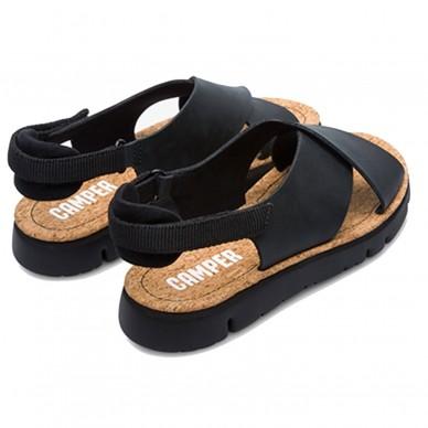 K200157 - Sandalo basso da donna con fasce intrecciate CAMPER modello ORUGA in vendita su Naturalshoes.it