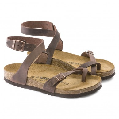 YARA (PELLE) - BIRKENSTOCK women's sandal with flip flops and adjustable straps shopping online Naturalshoes.it