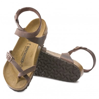 YARA (PELLE) - Sandalo da donna infradito con fascia incrociata alla caviglia BIRKENSTOCK modello in vendita su Naturalshoes.it