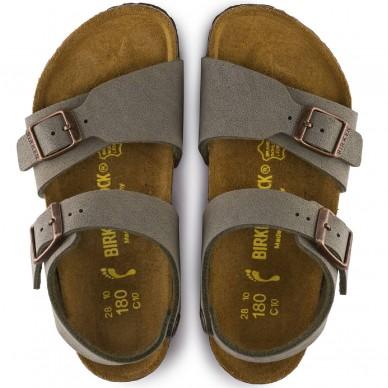 NEW YORK - BIRKENSTOCK Riemchensandale für Kinder mit anatomischem Fußbett in vendita su Naturalshoes.it