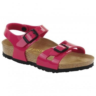 RIO (BIRKO-FLOR KIDS) - Sandalo da bambina BIRKENSTOCK con due fasce e cinturini regolabili in vendita su Naturalshoes.it