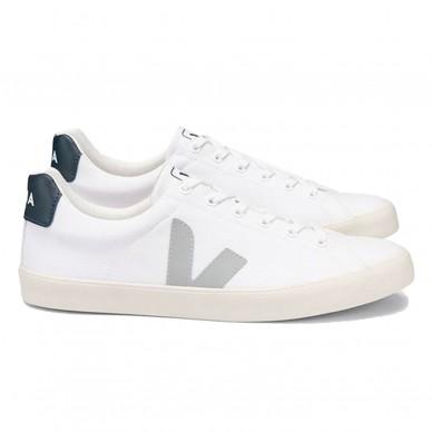 SE012587 - Veja Esplar Canvas White Oxford-Gray Nautico shopping online Naturalshoes.it