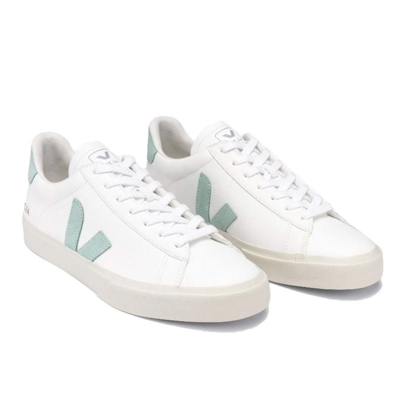 CP052485 - Sneaker da donna VEJA CAMPO - CHROME FREE  white-guimauve-marsala shopping online Naturalshoes.it