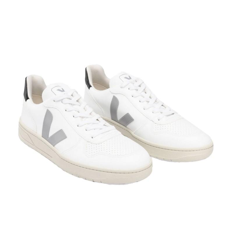 VX072527 - VEJA V-10 white oxford grey-black shopping online Naturalshoes.it