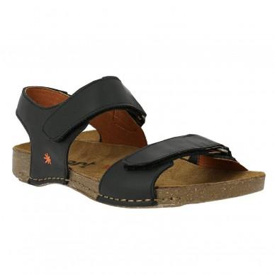 ART Weit aufklappbare Sandale mit verstellbarem Klettverschluss für Damen  BREATHE Modell Art.-Nr. 1004 in vendita su Naturalshoes.it