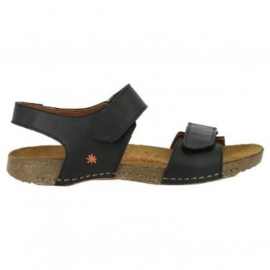 Sandalo a fascia larga con cinturino in velcro regolabile da donna ART modello BREATHE art. 1004 in vendita su Naturalshoes.it