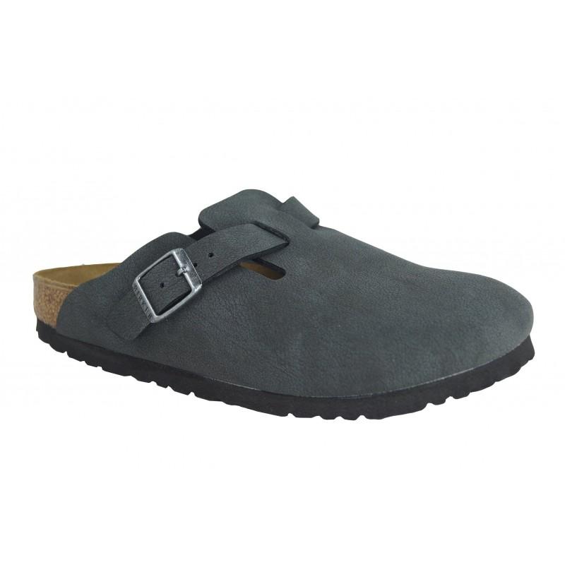 BOSTON - Sabot in ecopelle (birko-flor) da uomo e da donna con fibbia regolabile del marchio BIRKENSTOCK modello in vendita su Naturalshoes.it