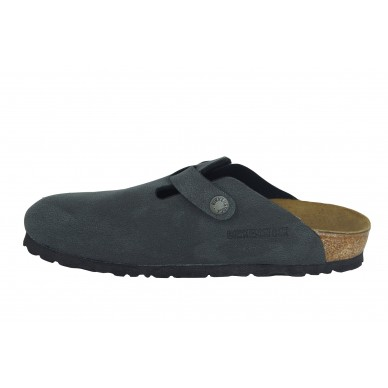 BIRKENSTOCK Sabot in eco-leather (birko-flor) for men and women with adjustable buckle BOSTON model shopping online Naturalshoes.it