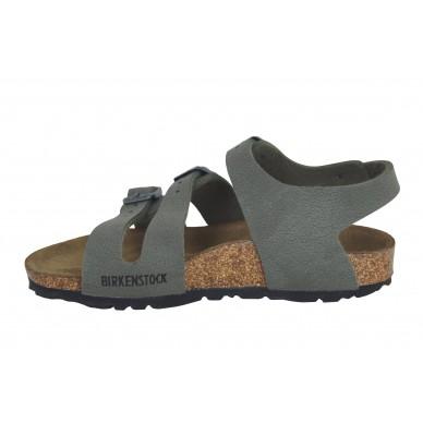 CANBERRA - Sandalo da bambino a tre fasce regolabili del marchio BIRKENSTOCK in vendita su Naturalshoes.it