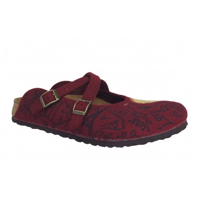 Sabot da donna BIRKI'S con fascette incrociate - DORIAN in vendita su Naturalshoes.it