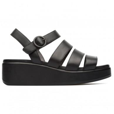 CAMPER Gestreifte Sandale mit verstellbarem Riemen für Damen Modell MISIA Art.-Nr. K200864 in vendita su Naturalshoes.it