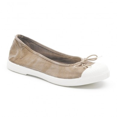 NATURAL WORLD Woman's ballerina model OLD ELYSIAN art. 128E shopping online Naturalshoes.it