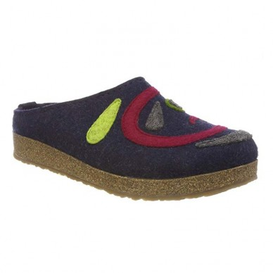 HAFLINGER Damen Slipper aus gekochter Wolle - JETTE in vendita su Naturalshoes.it