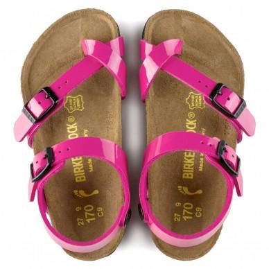 BIRKENSTOCK girl's sandal with flip-flops and adjustable straps - TAORMINA - BIRKO-FLOR shopping online Naturalshoes.it