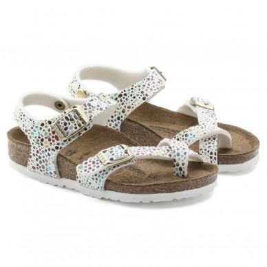 TAORMINA (MICROFASER KIDS) - BIRKENSTOCK Mädchensandale mit Flip-Flops und verstellbaren Trägern in vendita su Naturalshoes.it