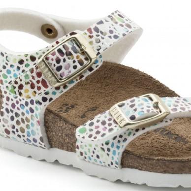 TAORMINA (MICROFASER KIDS) - BIRKENSTOCK girl's sandal with flip-flops and adjustable straps shopping online Naturalshoes.it