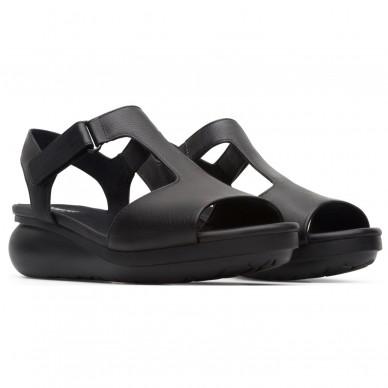 CAMPER Damen-Bandeau-Sandale mit verstellbaren Klettverschlüssen und vertikalem Frontband-Modells BALLOON art. K200612 in vendita su Naturalshoes.it
