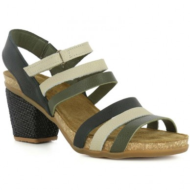 EL NATURALISTA Sandal in narrow stripes women's model MOLA art. N5030 shopping online Naturalshoes.it