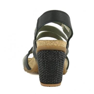 EL NATURALISTA Sandal in narrow stripes women's model MOLA art. N5030 shopping online Naturalshoes.it