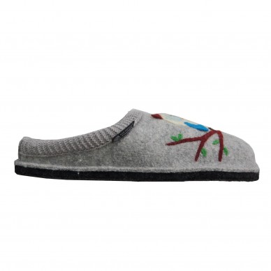 HAFLINGER women's slipper in boiled wool - OLIVIA shopping online Naturalshoes.it