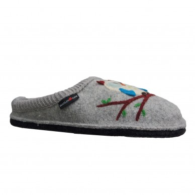 HAFLINGER Frauen Slipper aus gekochter Wolle - OLIVIA in vendita su Naturalshoes.it