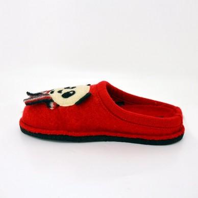 HAFLINGER Frauen Slipper aus gekochter Wolle - PANDA in vendita su Naturalshoes.it
