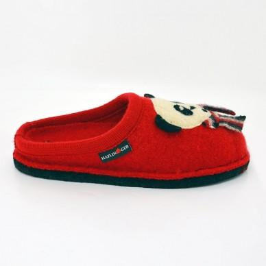 PANDA - Pantofola da donna HAFLINGER in lana cotta in vendita su Naturalshoes.it