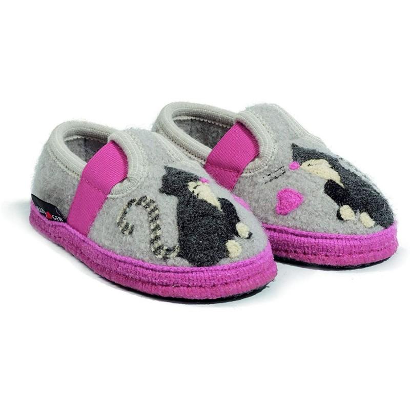 MIRA - Pantofola da bambina HAFLINGER in lana cotta in vendita su Naturalshoes.it