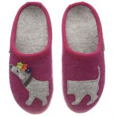 PUPPY - Pantofola da bambina HAFLINGER in lana cotta in vendita su Naturalshoes.it
