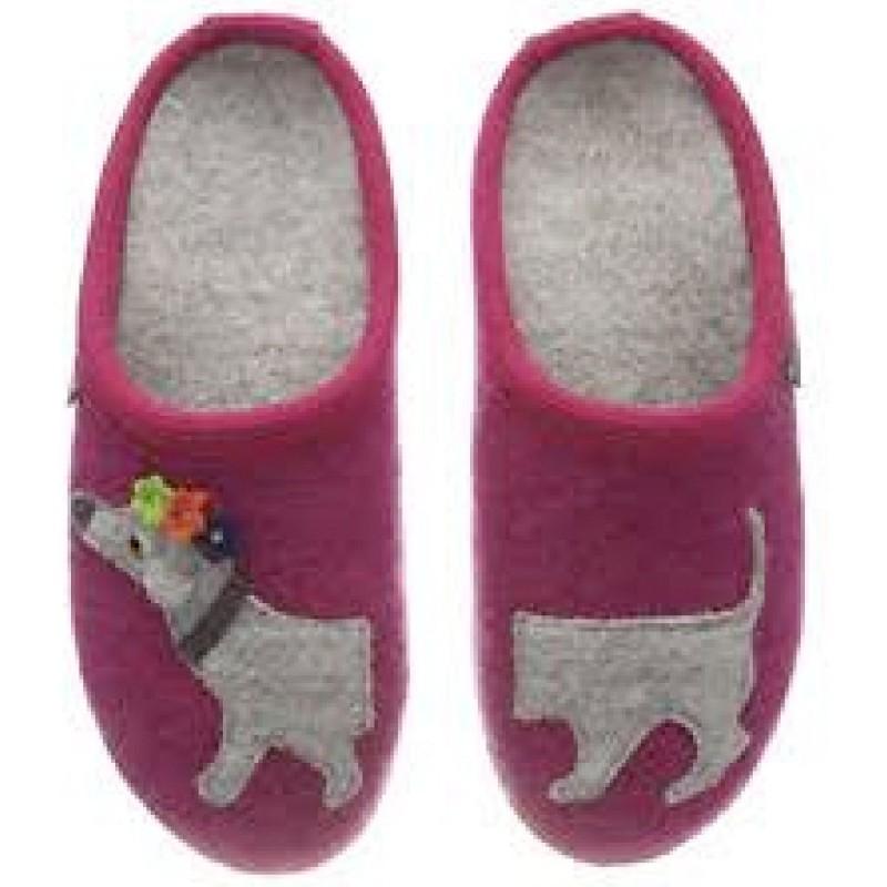 PUPPY - Pantofola da bambina HAFLINGER in lana cotta in vendita su Naturalshoes.it