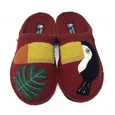 TUCAN - Pantofola da donna HAFLINGER in lana cotta  in vendita su Naturalshoes.it