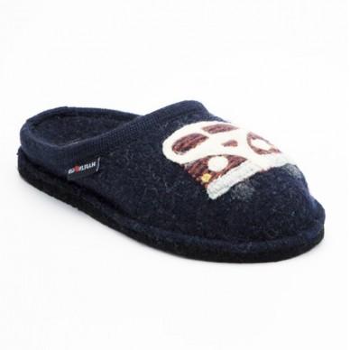 HAFLINGER Damen Slipper aus gekochter Wolle - HIPPIE-VAN in vendita su Naturalshoes.it