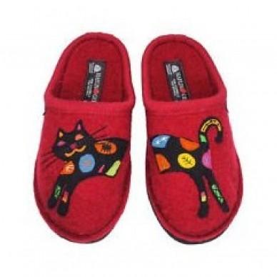 HAFLINGER women's slipper in boiled wool - SASSY shopping online Naturalshoes.it