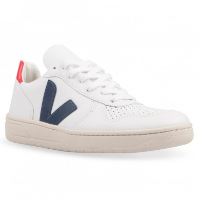 VX021267 - VEJA V-10 white nautico-pekin in vendita su Naturalshoes.it
