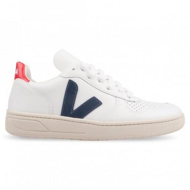 VX021267 - VEJA V-10 white nautico-pekin in vendita su Naturalshoes.it