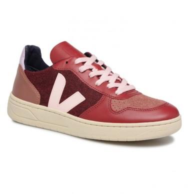 VEJA Frauenturnschuhe aus Leder - VXW011683 in vendita su Naturalshoes.it