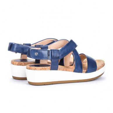 PIKOLINOS women's sandal with 4 cm wedge - Mykonos W1G-1588 shopping online Naturalshoes.it