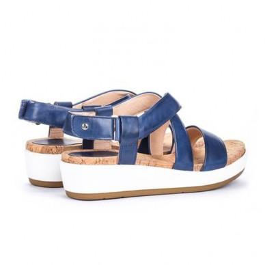 Sandalo da donna PIKOLINOS con zeppa 4 cm - Mykonos W1G-1588 in vendita su Naturalshoes.it