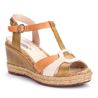 Sandali da donna con zeppa PIKOLINOS - Mojacar W7R-5802 in vendita su Naturalshoes.it