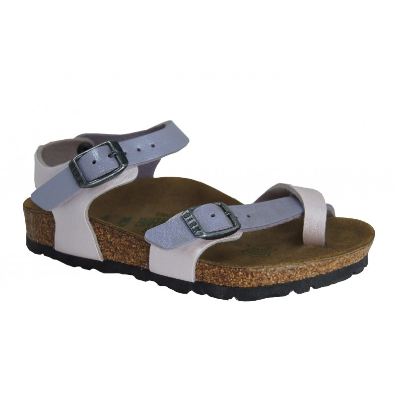 TAORMINA (KIDS) - BIRKENSTOCK girl's sandal with flip-flops and adjustable straps shopping online Naturalshoes.it