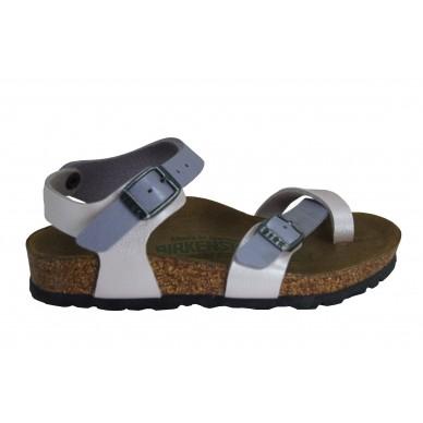 TAORMINA (KIDS) - BIRKENSTOCK Mädchensandale mit Flip-Flops und verstellbaren Trägern in vendita su Naturalshoes.it